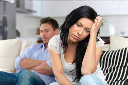 couple in a stressful relationship